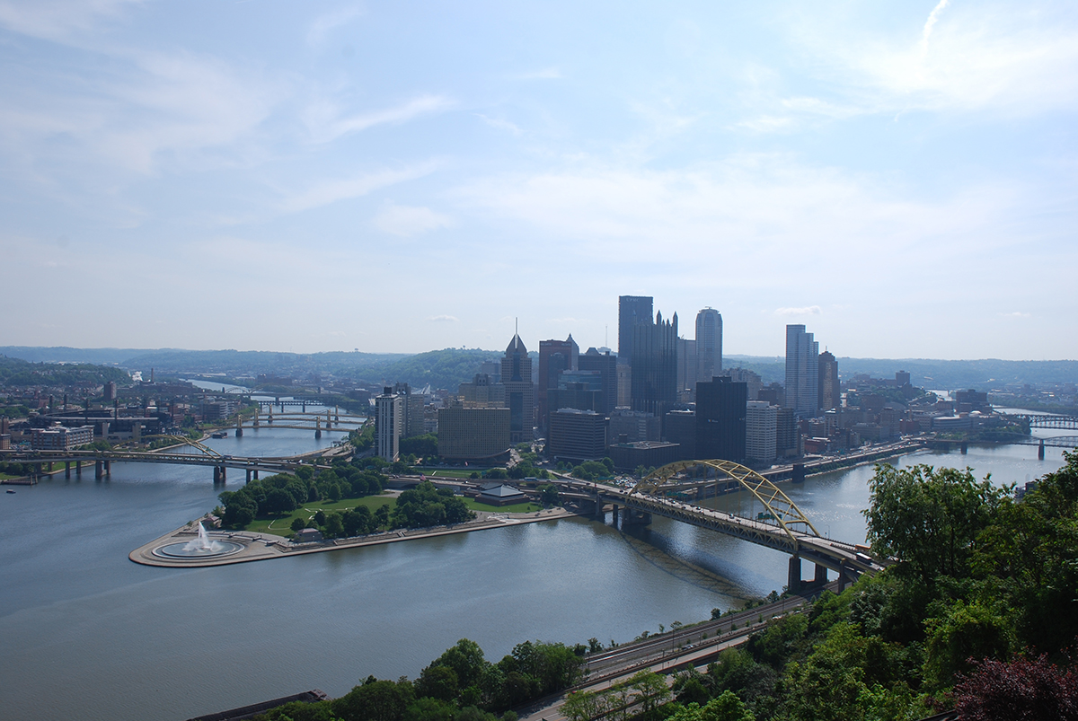 """A view of """"The Golden Triangle"""" from Mt. Washington."""