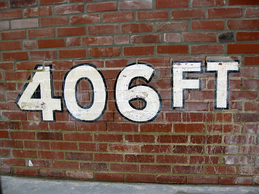 forbes field wall closeup