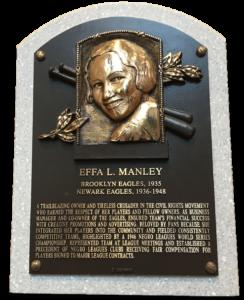 Effa Manley plaque